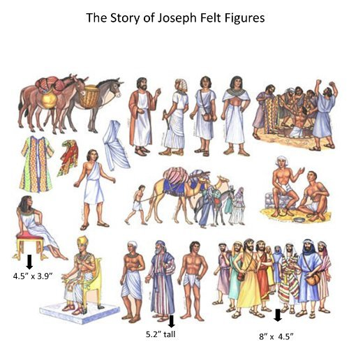 (The Story of Joseph in Egypt Felt Figures for Flannel Board Bible Stories-precut)