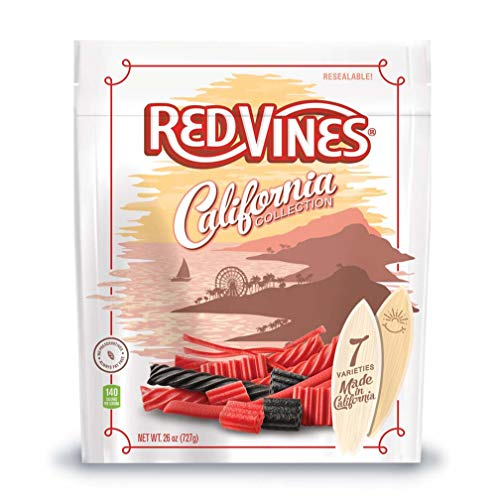 Red Vines Red & Black Licorice Assortment, 26oz Bag, California Collection, Soft & Chewy Candy ()