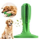 KEKH Dog Toothbrush Stick-Puppy Dental Care Brushing Stick Effective Doggy Teeth Cleaning Massager Nontoxic Natural Rubber Bite Resistant Chew Toys for Dogs Pets Oral Care(Green)