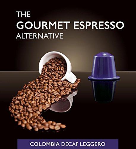 SpressoLuxe Nespresso Compatible Gourmet Coffee Capsules, Colombia Decaf Leggero, 50 Count