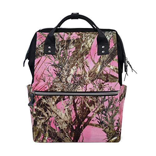 Diaper Bags Pink Real Tree Camouflage Fashion Mummy Backpack Multi Functions Large Capacity Nappy Bag Nursing Bag for Baby Care for Traveling