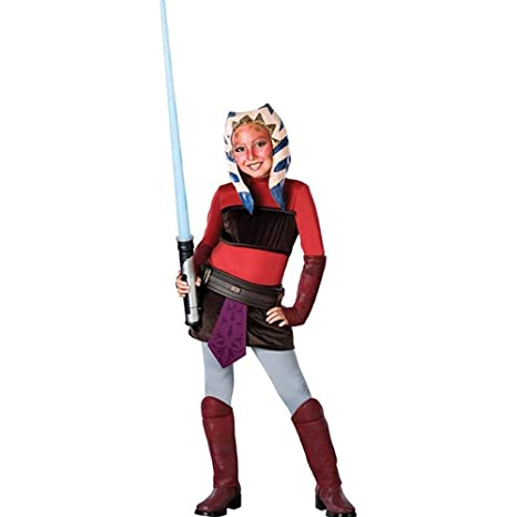 Disney Star Wars Clone Wars Ahsoka Deluxe Child Costume Large  sc 1 st  Amazon.com & Amazon.com: Disney Star Wars Clone Wars: Ahsoka Deluxe Child Costume ...
