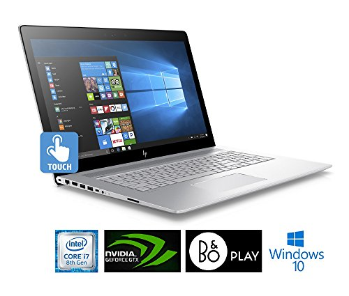 HP Envy 17~ae111dx Laptop 17.3in Edge-to-Edge IPS TouchScreen Full HD (1920x1080), 8th Gen Quad-Core i7-8550U, 16GB DDR4, 1TB HDD, NVIDIA MX150, IR Camera, Backlit, Windows 10 (Renewed )