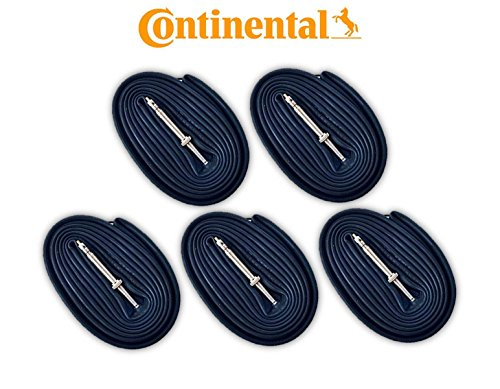 Continental Race 28 700c x 18-25 Bike Tubes (5 Pack) - 60mm Presta Valve by Continental