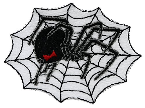 Black Widow Spider On Web 3x2 Inch Patch PPMT0267 ()