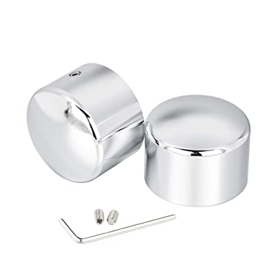 Benlari Front Chrome Axle Nut Caps Compatible for Harley Davidson Touring Softail Sportster Dyna Trike Street Electra Road Glide 2002-2020: Automotive