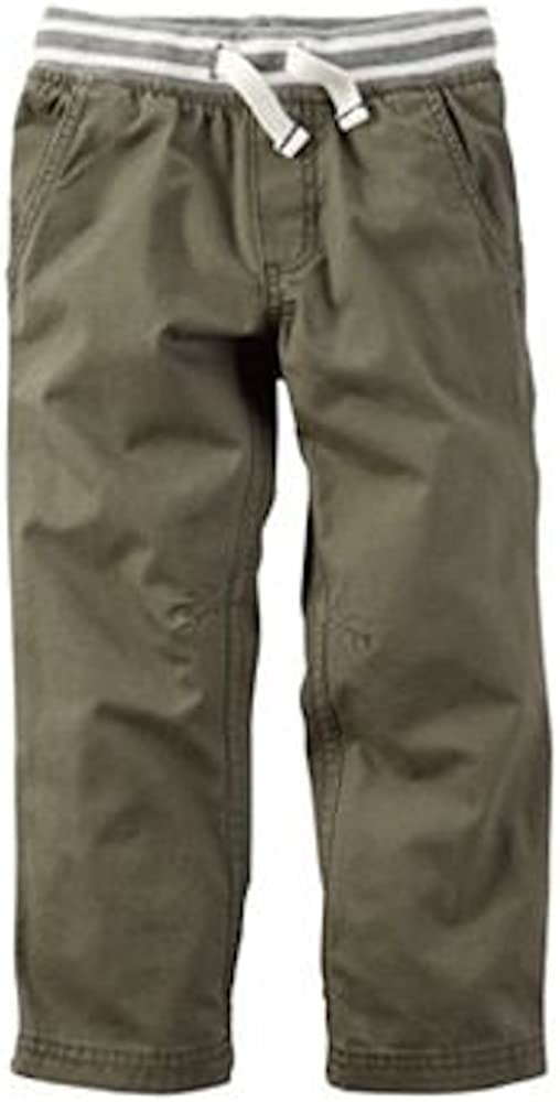 Carters Baby Boys Olive Green Canvas Utility Pull On Pants 6 Months