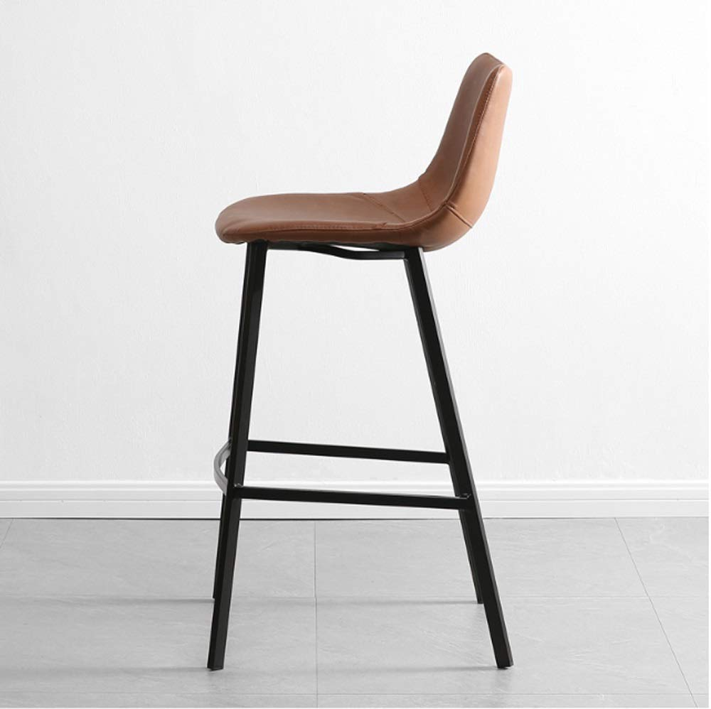 AO-stools Nordic Leisure High Stool Cafe Back Metal Bar Chair Home Restaurant Dining Chair 99x75x43cm by AO (Image #4)