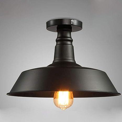 Diseño moderno Lámpara de techo industrial Lámpara de techo negra ...
