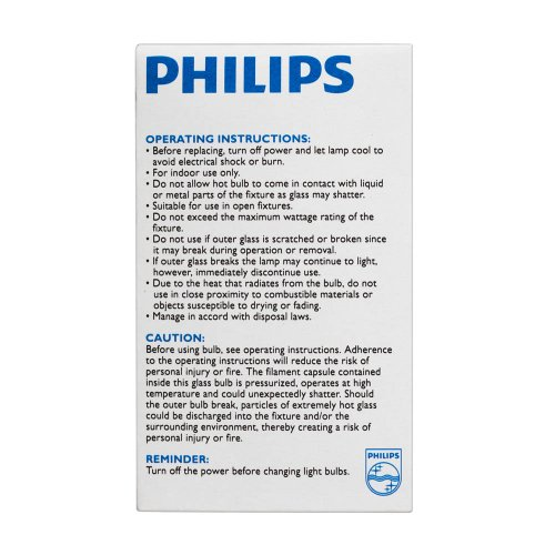 046677410483 - Philips 429241 72W Equivalent 100 Watt-1490 Lumens Clear Halogen Bulbs carousel main 3