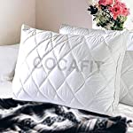 Coca Industries Fit Cotton Quilted Border Pillows Set (Size 17 X 27 inch)