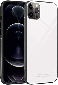 Luhuanx Case Compatible with iPhone 12/12 Pro,Case Replacement for iPhone 12/12 Pro High Tempered Glass Quality on Back Cover Protector (2020 New) This Case Only for 6.1 inch. White