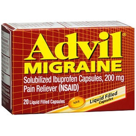 Advil Migraine 200mg Pain Reliever, 20 Liquid Filled