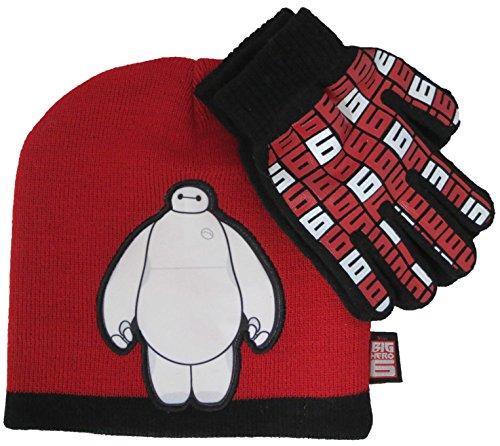 Child Red Baymax Gloves (Disney Big Hero 6 Baymax Boys Hat and Glove Set [4012] (Red))