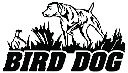 Hunting Dog Decal (Bird Dog Hunting Vinyl Decal Sticker For Vehicle Car Truck Window Bumper Wall Decor - [6 inch/15 cm Wide] - Gloss BLACK Color)