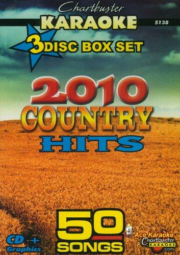 Chartbuster Karaoke CDG 3 Disc Pack CB5138 - 2010 Country Hits ()