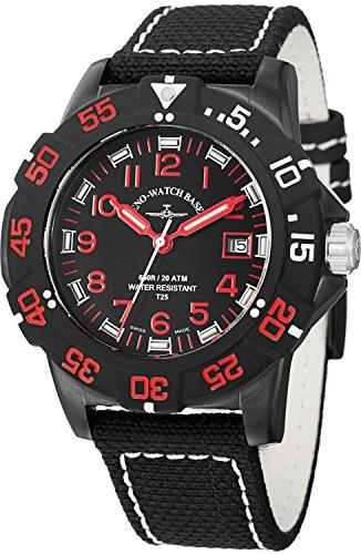 Zeno Men's 6709-515Q-A17 Divers Analog Display Quartz Black Watch