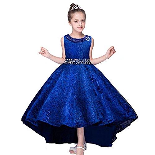 ZAH Big Little Girl Pink Flower Girl Dresses