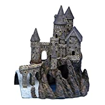 Penn Plax Castle Aquarium Decoration Hand Painted With Realistic Details Over 14.5 Inches High Part B