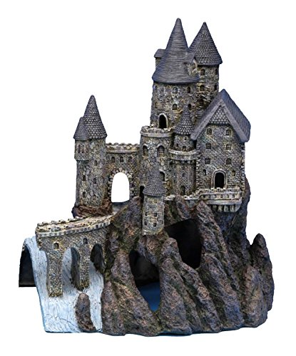 Penn Plax Castle Aquarium Decoration Hand Painted with Realistic Details Over 14.5 Inches High Part B ()