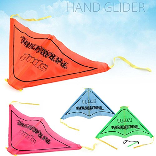 Sinwo Kids Paragliding Flying Hang Glider Set Launch Catapult Slingshot Outdoor Toy Fly Toys (Green)
