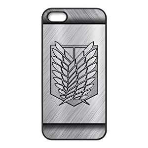 LeonardCustom Hard Durable Rubber Coated Cover Case for iPhone 5 / 5S , Attack on Titan Scout Regiment Logo -LCI5U123