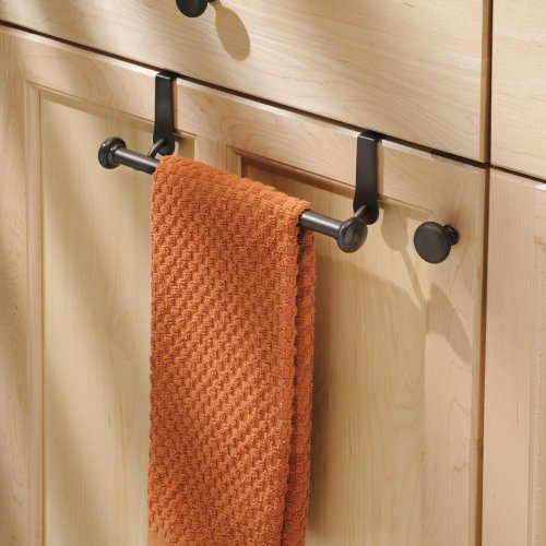 InterDesign York Over-the-Cabinet Kitchen Dish Towel Bar