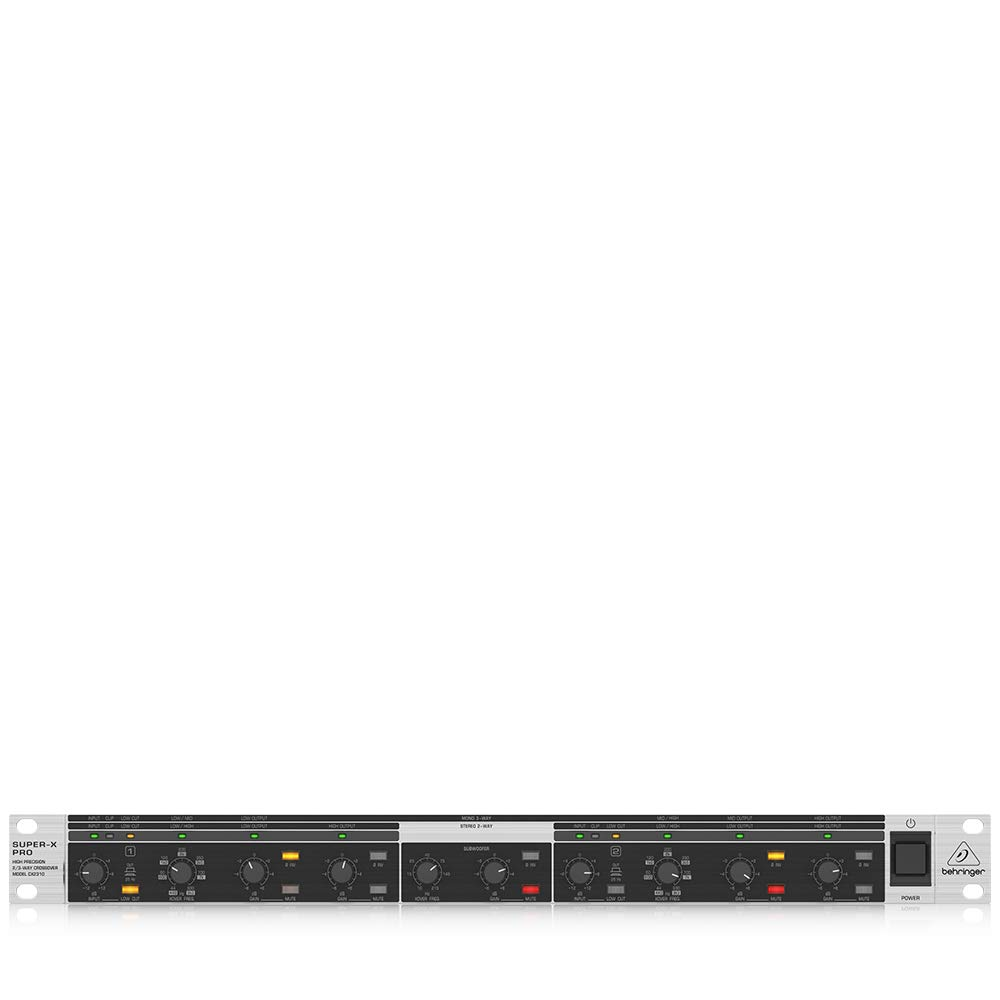 Behringer Super-X Pro CX2310 Professional High-Precision Stereo 2-Way/Mono 3-Way Crossover with Subwoofer Output
