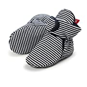 Newborn Cozie Fleece Bootie, Unisex Infant Toddler Slippers Crib Shoes Warm Boots with Anti Slip Bottom