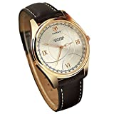 ChezAbbey Mens Luxury Analog Quartz Calendar Business Waterproof Wrist Watch