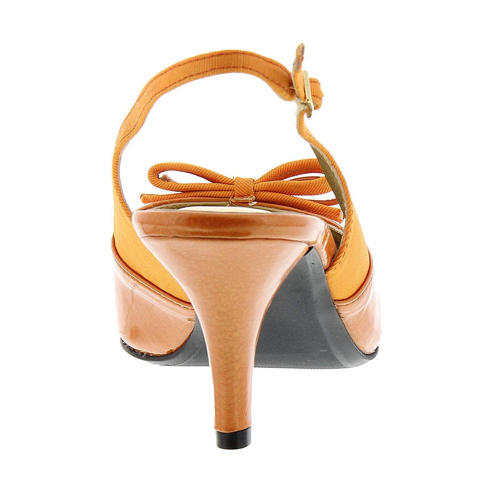 Proxy Womens Carey Pointed Toe Casual Slingback Sandals Orange Size 12.0