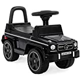 Best Choice Products Kids Toddler Luxury Mercedes G63 Convertible Cruiser Foot-to-Floor Ride-On Push Car Toy Buggy for Indoor/Outdoor Play w/ Steering Wheel, Push Handle, Honking Horn - Black