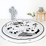 Cheap Round Carpet Game Pad Kids Playmats Baby Kids Crawling Blanket Gym Play Mat