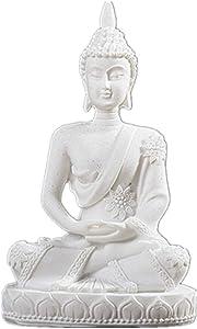 WGLG Sculptures Home Decor Modern Sandstone India Buddha Statue Fengshui Sitting Buddha Sculpture Figurines Vintage Home Decor Use for Aquarium
