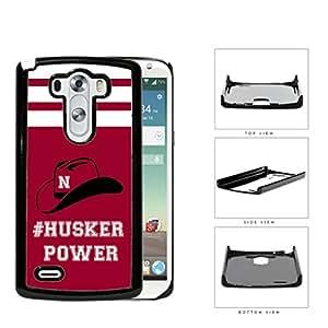 Hashtag Husker Power School Spirit Slogan Chant LG G3 VS985 Hard Snap on Plastic Cell Phone Cover
