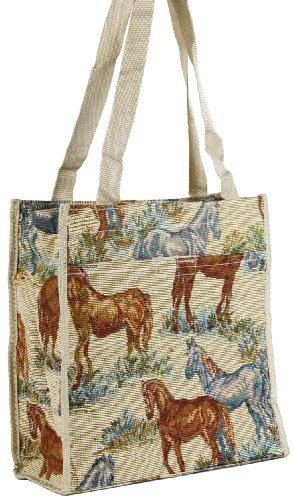 Horse Tapestry Tote Handbag Purse