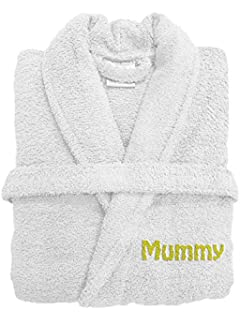 Spa Collection Personalised Embroiderd Luxury Terry Towelling Bath Robe  100% Egyptian Cotton 500GSM Extra Absorbent 8cadee8e6