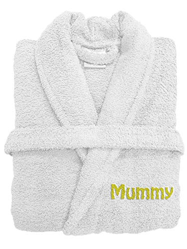 Spa Collection Personalised Embroiderd Luxury Terry Towelling Bath Robe  100% Egyptian Cotton 500GSM Extra Absorbent 0268c230c