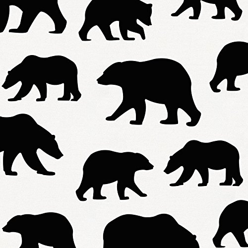 Carousel Designs Onyx Bears Fabric by the Yard - Organic 100% Cotton