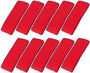 Mallofusa 10 PCS Sports Basketball Headband/Sweatband Head Sweat Band/Brace Gift Party Outdoor Activities