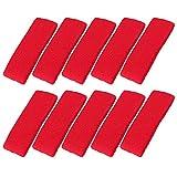Mallofusa 10 PCS Cotton Sports Basketball Headband/Sweatband Head Sweat Band/Brace Gift Party Outdoor Activities (Red)