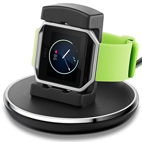 Compatible Fitbit Blaze Charger,EPULY Compatible Fitbit Blaze Charger Replacement Accessories Charging Stand Station TPU Protective Hook With 3 Feet Usb Cable Compatible Fitbit Blaze Smart watch Black