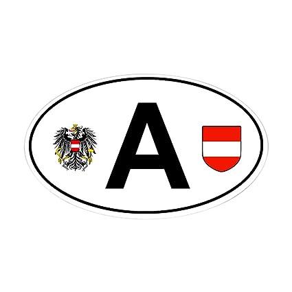 Cafepress austria car decal oval bumper sticker euro oval car decal