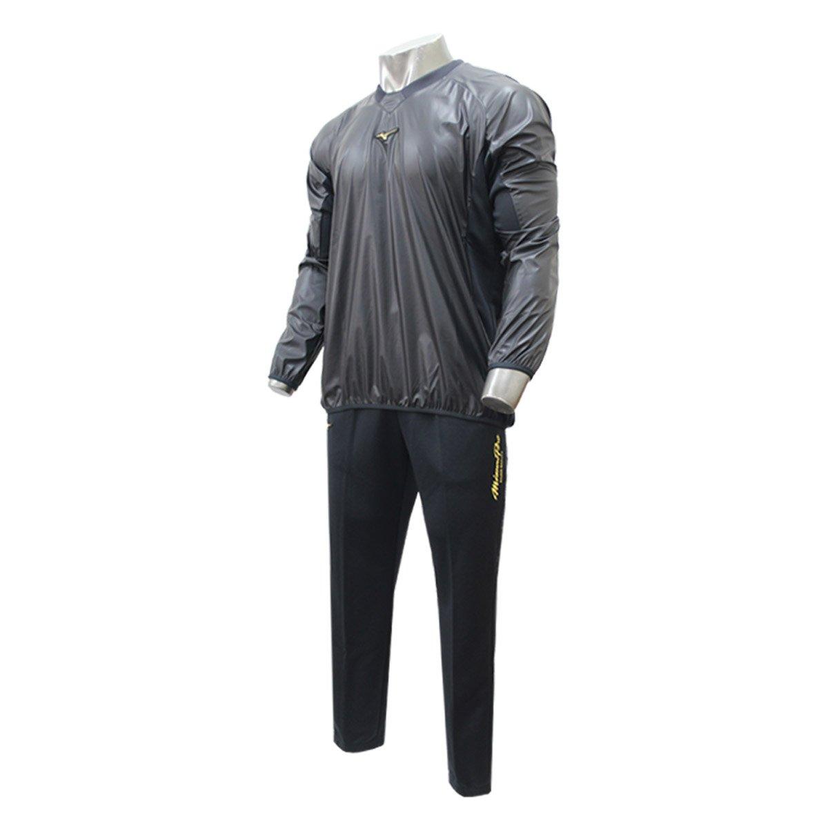 ミズノ 限定 ミズノプロ トレーニングジャケット V首 長袖 パンツ 上下セット セットアップ 12JE7J84-12JF7W82 ロイヤルプロダクト B075TZ7GG5 Medium|09ブラック×09ブラック 09ブラック×09ブラック Medium
