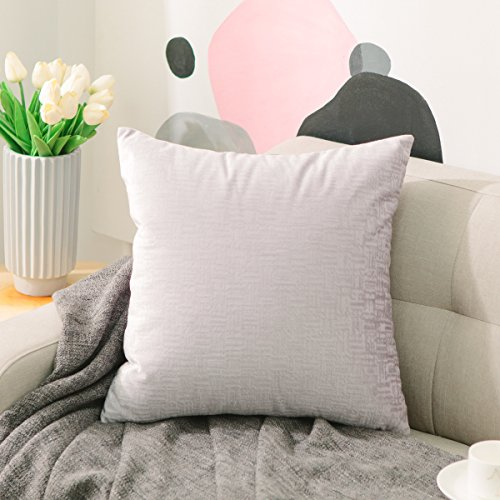 Home Brilliant Supersoft Square Textured Shiny Velvet Throw Pillow Cover Euro Sham Decorative for Bed, 26 x 26 inches(66cm),Lavender (Target Pillow Owl)