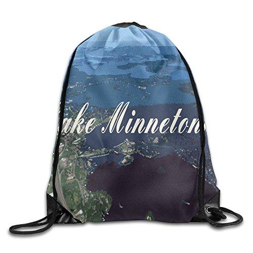 Lake Minnetonka Unisex Lightweight Backpack Gym Drawstring Bags. by DGsg1 Bag