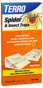 TERRO T3200 Spider & Insect Trap - 4 traps (not available for sale in NM)
