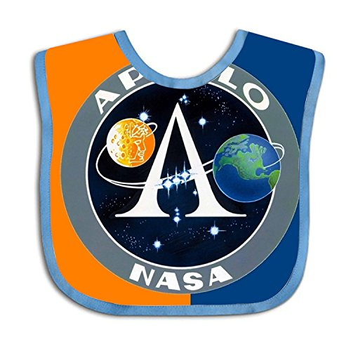 APOLLO NASA Teething Bib Adjustable Feeding Bibs Soft Gift For Toddlers Waterproof