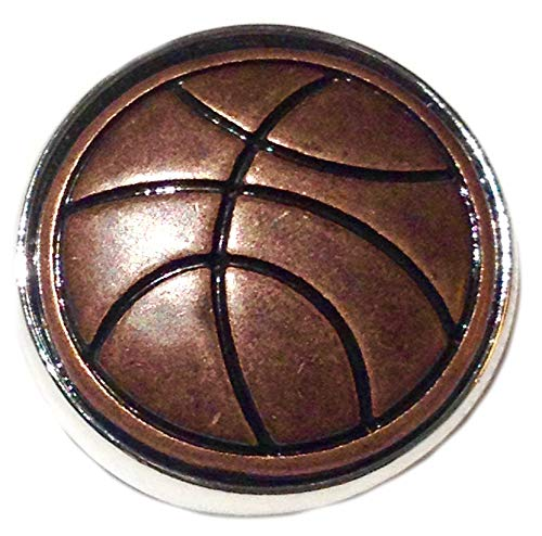 Rockin Angels Copper Basketball 18mm Snap Charm Interchangeable Jewelry Fits Ginger Snaps ()