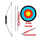 PG1ARCHERY Archery Scout Kids Bow and Arrow Set Game Outdoor Sports Takedown Longbow Toy Bow with 28″ Fiberglass Arrow Fletching Vanes for Youth Junior